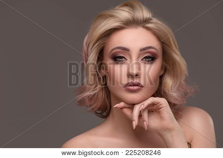 Beauty Portrait Of Sensual Woman.