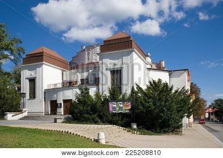 CZECH REPUBLIC, KLADNO - SETP 18, 2015:  town theatre, historical town center of town Kladno, Central Bohemia, Czech republic