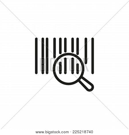 Icon of bar code. Parcel, supermarket, information. Distribution concept. Can be used for topics like warehouse, shopping, retail