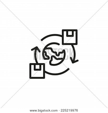 Icon of exchanging files. Concept. Internet, synchronization, access. Can be used for topics like information, communication, file sharing
