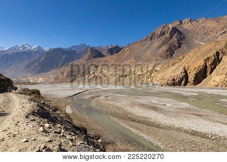 Kali Gandaki river near Jomsom, Himalayas Nepal