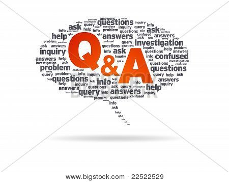 Speech Bubble - Q&a