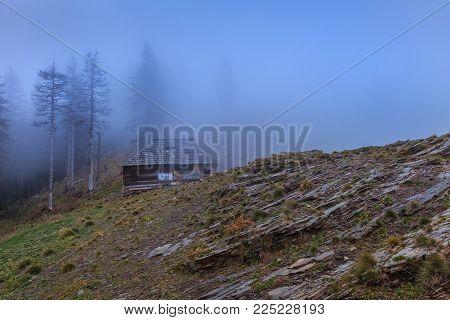 mountain landscape in the Cozia Mountains, Romania