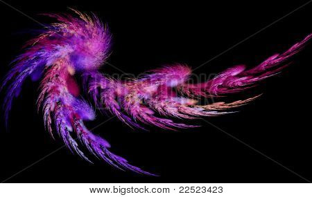 Purple abstract feather