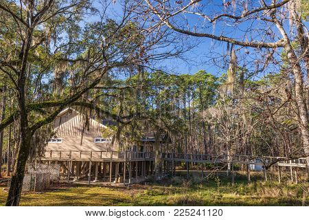 St. Marks National Wildlife Refuge  Visitor Center near Tallahassee, Florida. Established in 1931, this is one of the oldest wildlife refuges in the USA.