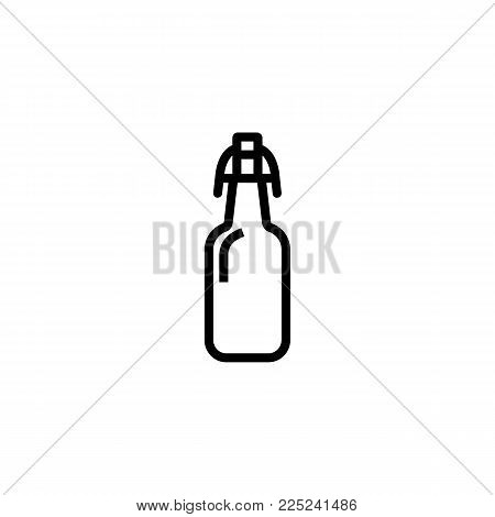 Icon of beer bottle. Alcohol, stout, ale. Beer concept. Can be used for topics like bar, beerhouse, pub.