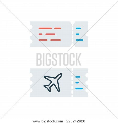 flat plane ticket icon on white background simple
