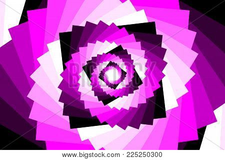 Spiral of rotating squares - violet background, Spiral from squares - purple pattern