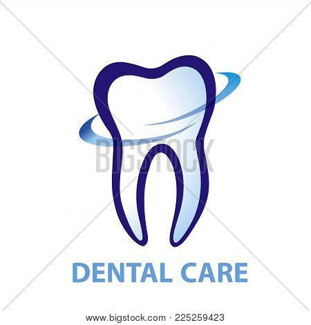 Health Dent Logo Design Vector. Cosmetic Dental Dentistry. Dental Clinic Logotype Concept Icon. Heal