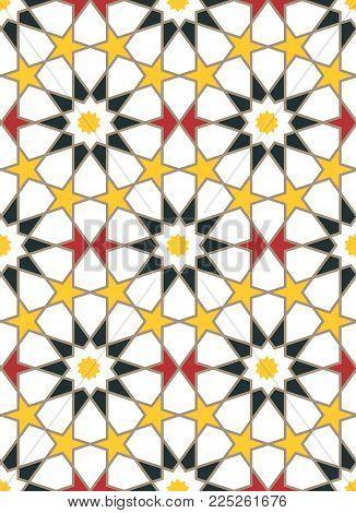 Moroccan style mosaic ornament. Seamless mosaic tile pattern
