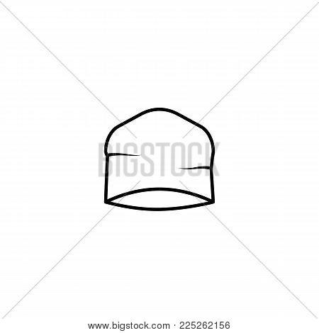 Beanie  leisure Hat Icon on white background