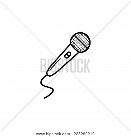 audio Microphone vector icon on white background