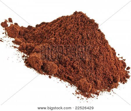 coffee powder isolated on the white background