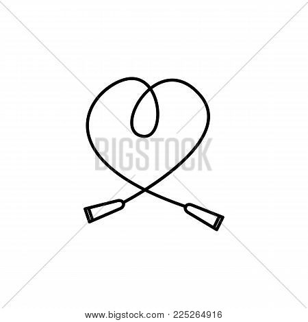 The skipping rope icon. Jumping-rope symbol. Flat Vector illustration on white background
