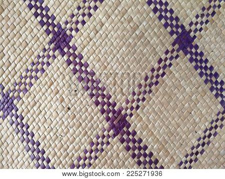 Straw woven mat background