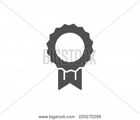 Award Medal simple icon. Winner achievement symbol. Glory or Honor sign. Quality design elements. Classic style. Vector
