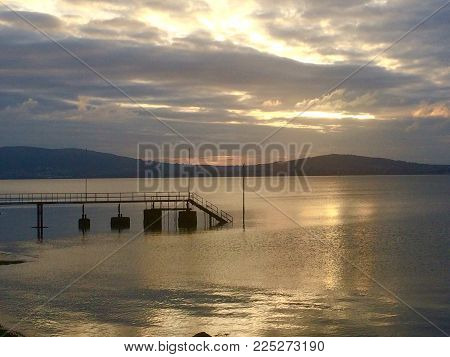 Belfast Lough in the sunshine in the summer