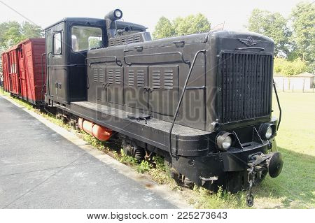 An Old Soviet Train, Where Prisoners Were Escorted To The Gulag. Grutas Park Near Druskininkai, Lith