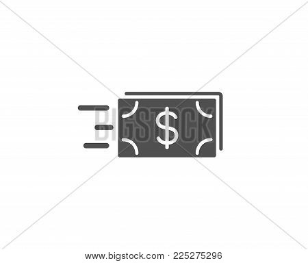 Transfer Cash money simple icon. Banking currency sign. Dollar or USD symbol. Quality design elements. Classic style. Vector