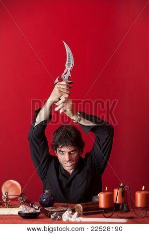 Modern Wizard With Athame