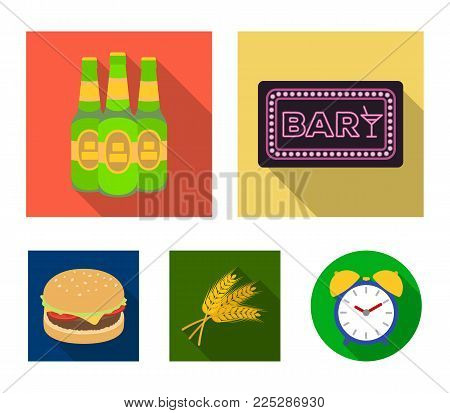Bar, pub, restaurant, cafe .Pub set collection icons in flat style vector symbol stock illustration .