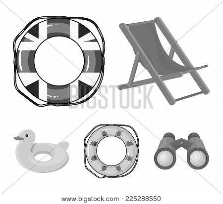 Multicolored swimming circle monochrome icons in set collection for design. Different lifebuoys vector symbol stock  illustration.