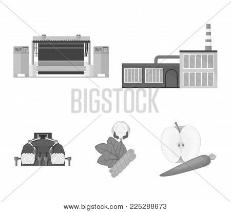 Factory, enterprise, buildings and other  icon in monochrome style. Textile, industry, fabric icons in set collection.