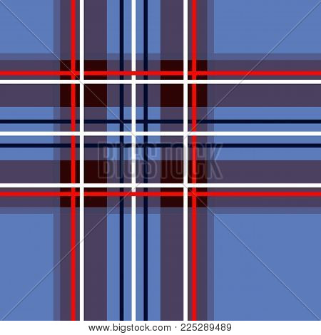 Scottish cage, blue celtic. Scottish blue checkered background. Scottish pattern. Vector illustration