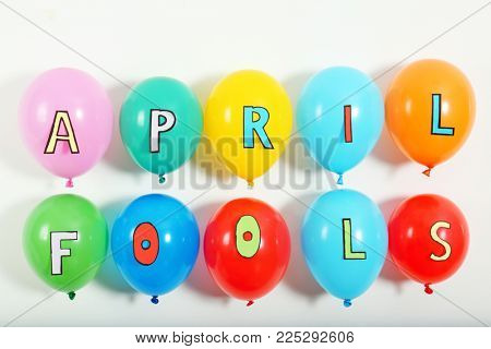 Colorful balloons with phrase