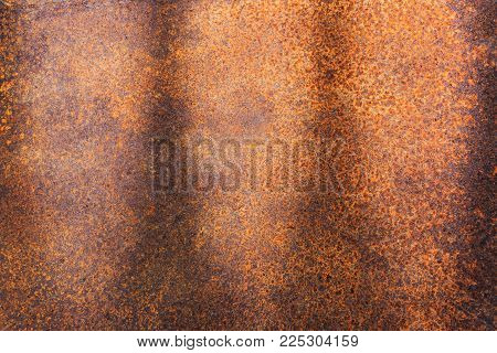 Rusty metal texture or rusty metal background. rusty metal for interior exterior decoration and industrial construction concept design. rusty metal is caused by moisture in the air.