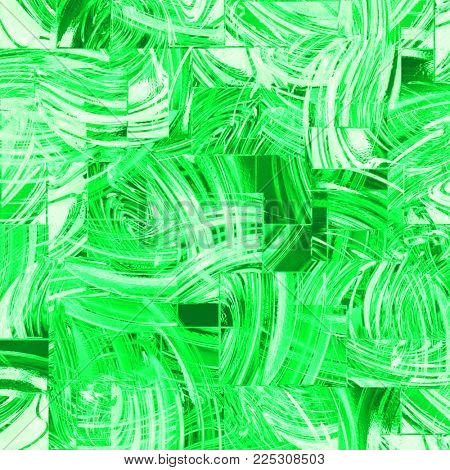 abstract background of green glass squares