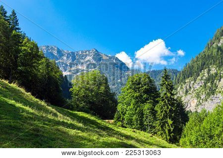Alps Mountains View From Salzberg