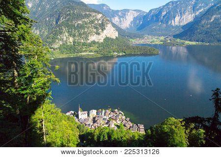 Hallstatt City From Alp Mountains