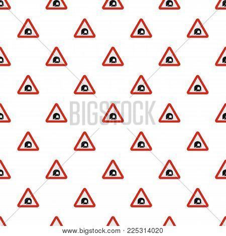Tunnel pattern seamless in flat style for any design