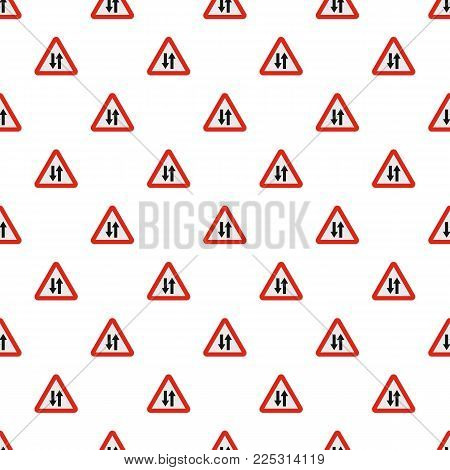 Double sided traffic pattern seamless in flat style for any design
