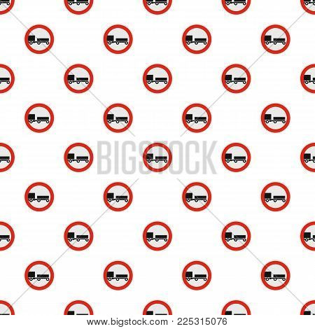 Trailer is forbidden pattern seamless in flat style for any design