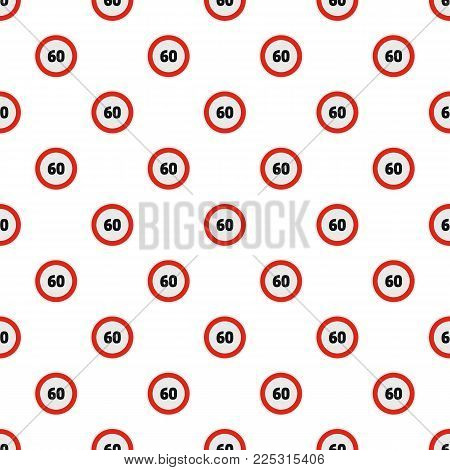 Maximum speed limit pattern seamless in flat style for any design