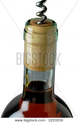 Corkscrew Opening A Red Wine Bottle (2)