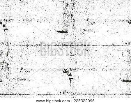 Distressed Overlay Texture Of Cracked Concrete. Grunge Background. Abstract Halftone Vector Illustra