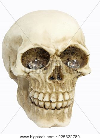 Scary Pirate Skull With Two Big Diamonds In Eye Sockets