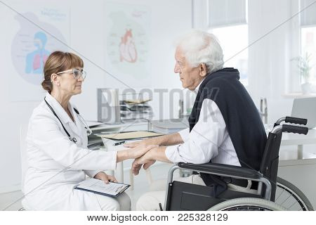 Doctor Comforting Patient
