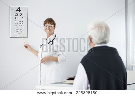 Oculist Doing Eye Exam