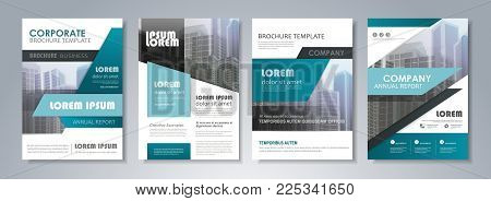 Presentation template set for business annual report, corporate marketing,  corporate report, creative flyer and leaflet, advertising, brochure,  banner, slideshow, booklet, background.