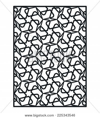 Simple decorative panel for laser cutting, die cutting or stencil. Vector geometric abstract ornament.