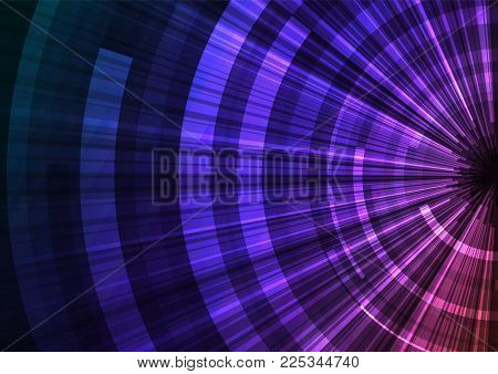 abstract circle with sheet overlap background, purple red digital layer line point, technology background, vector illustration
