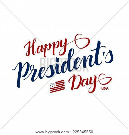 Red And Blue Tape With Inscription Happy Presidents Day