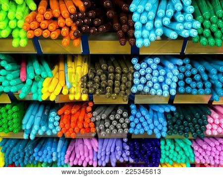 Multi Color Pen In Shelf, Stationary, Craft And Art