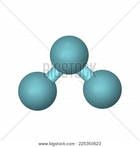 The molecular formula of ozone. O3 vector illustration. The abstract model.