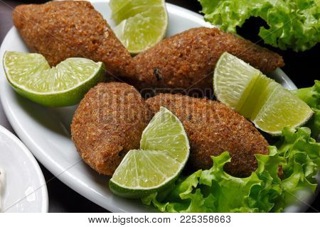 Arabic meat appetizer kibbeh