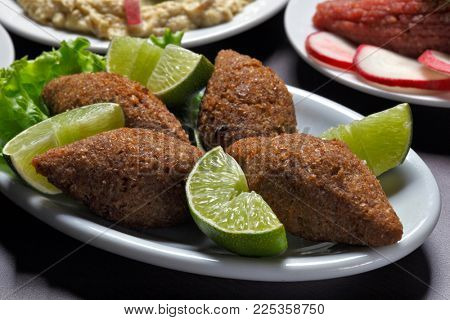 Arabic meat appetizer kibbeh